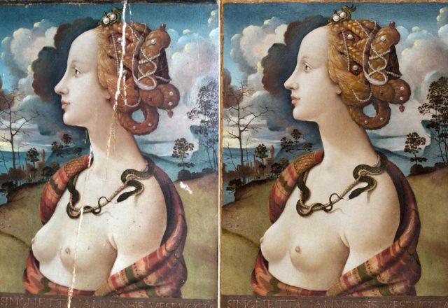 Après masticage et après réintégration / ©C2RMF