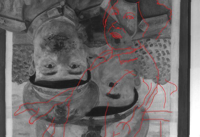 Relevé d'après la réflectographie infrarouges / © Arcanes
