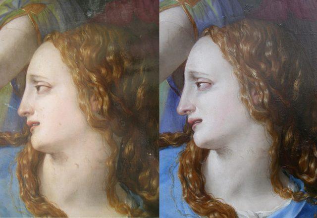 Avant et après restauration / ©C2RMF