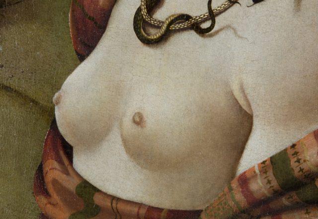 Détail Piero di Cosimo - portrait de Simonetta Vespucci / © Matthieu Lombard