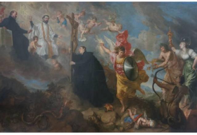Theodoor BOEYERMANS - Les vœux de Saint Louis de Gonzague