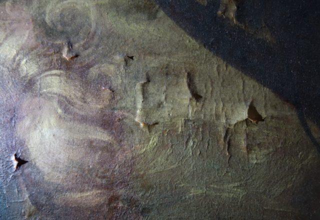 Détail de soulèvements, Lumière rasante (Mars et Venus, Château de Fontainebleau) / ©Arcanes