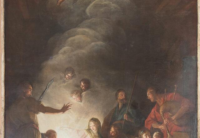 Jean II Restout, L'Adoration des Bergers - avant restauration / ©Arcanes