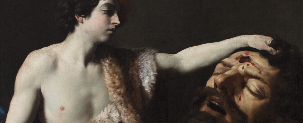 David tenant la tête de Goliath