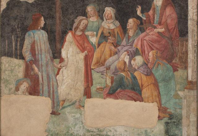 Avant restauration - Un jeune homme présenté par Vénus aux sept Arts libéraux, Sandro Botticelli / ©Arcanes