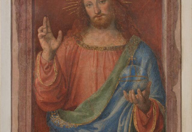 Avant restauration - Le Christ bénissant, Bernardino Luini  / ©Arcanes