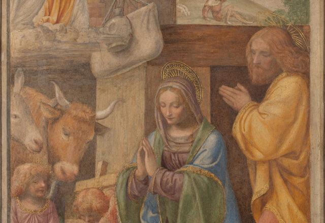 Avant restauration - La Nativité et l'Annonce aux bergers, Bernardino Luini / ©Arcanes