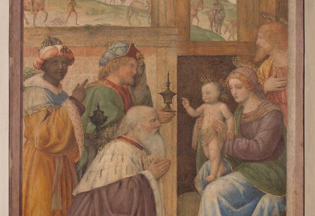 Avant restauration - L'Adoration des Mages, Bernardino Luini / ©Arcanes
