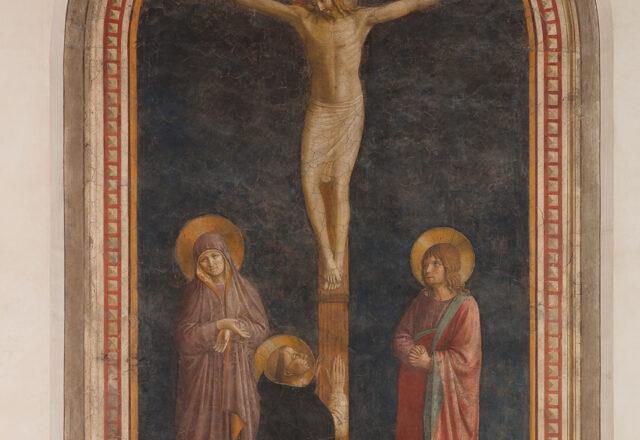 Avant restauration - Le Calvaire avec Saint Dominique, Fra Angelico / ©Arcanes